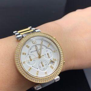 Michael Kors watch, MK-5626, two tone gold/silver
